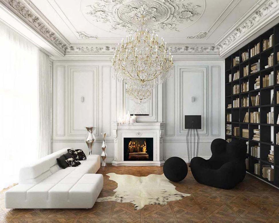 Appartement Haussmannien en Noir et Blanc
