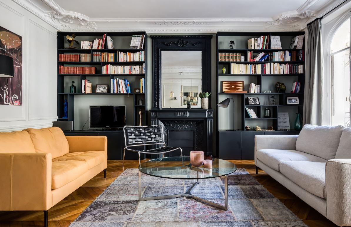 Appartement Haussmannien et Peinture de Cheminée