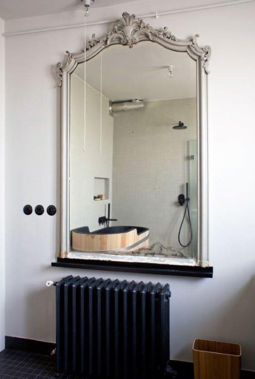 Miroir radiateur salle de bain
