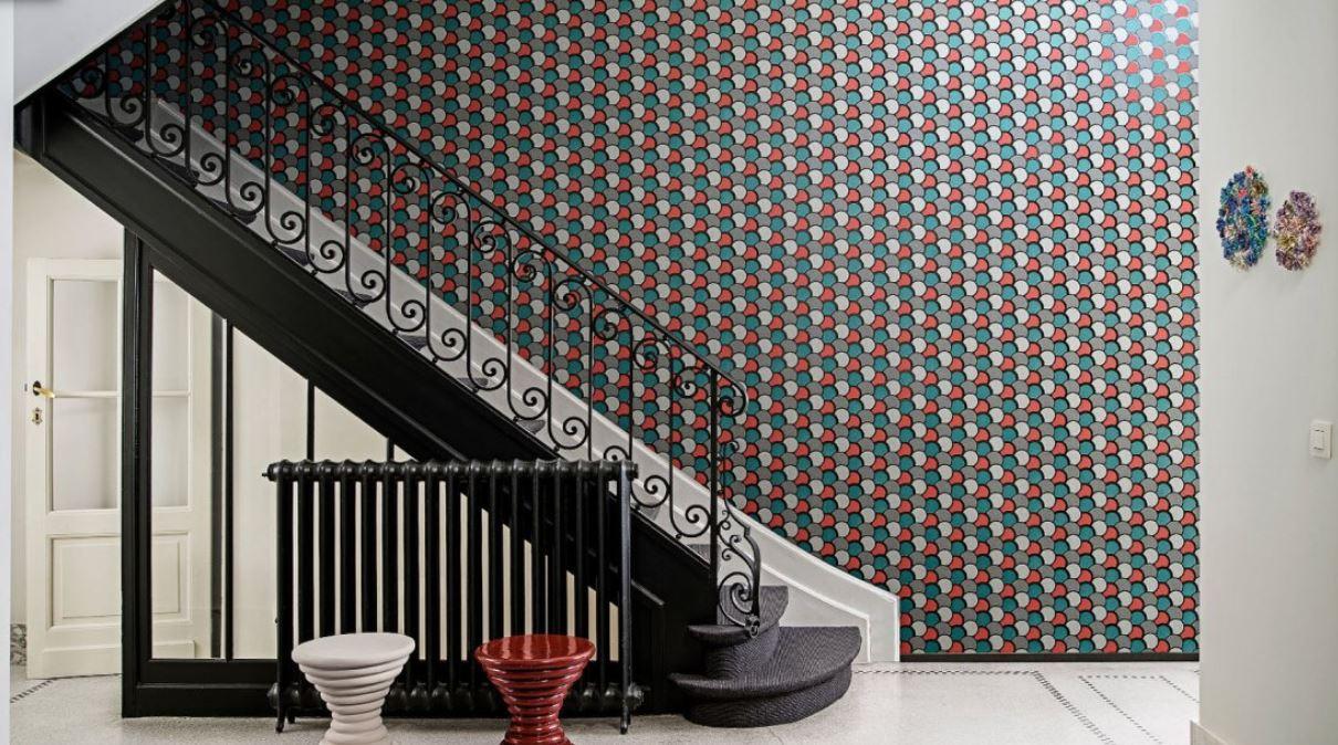 Papier peint géométrique coloré