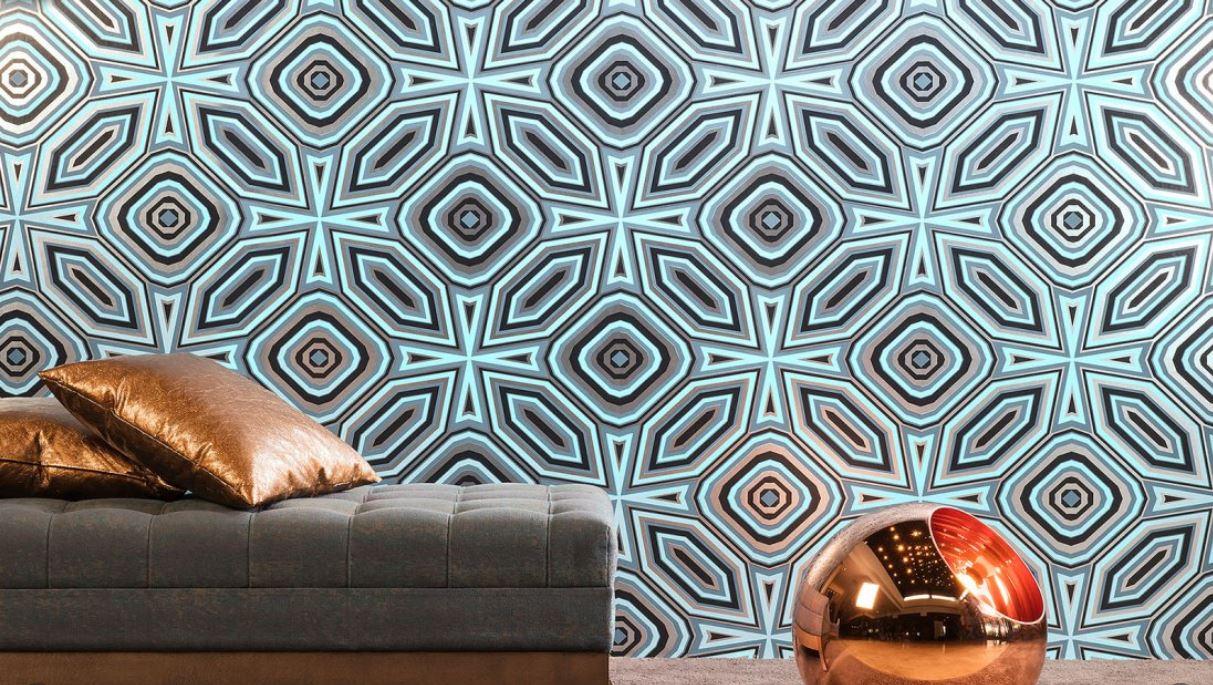 Papier peint motifs géométriques